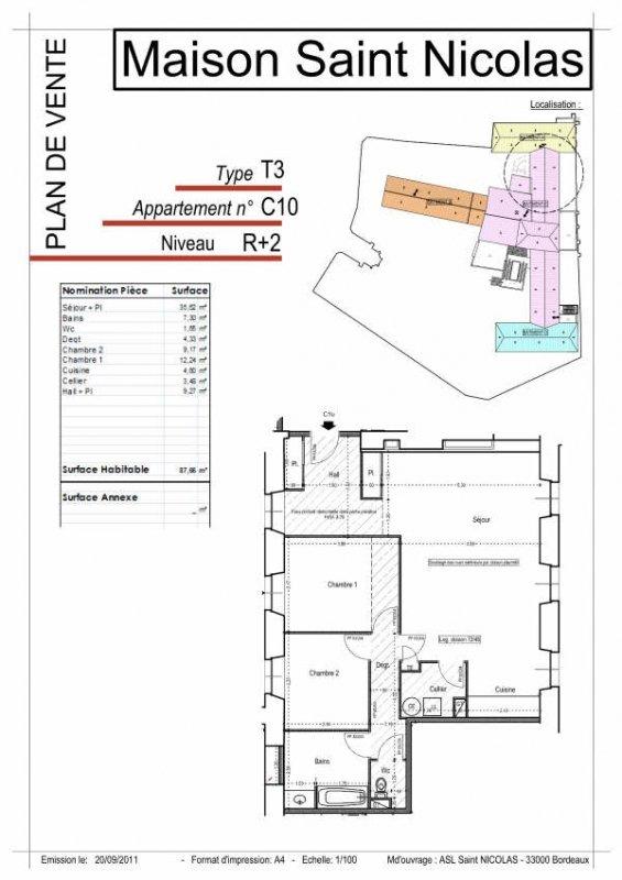 Location Appartement TARASCON surface habitable de 87 m²